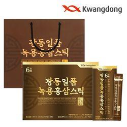 광동 일품 녹용홍삼 스틱 30포 1세트  쇼핑백포함