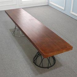 우드슬랩 DIY상판목재 원목 테이블 직선형