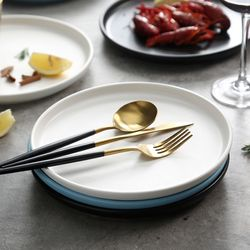 3종 1set 세라믹 모던 원형 접시세트