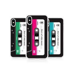 [Try]카세트테이프 투명 젤리케이스.아이폰SE2공용