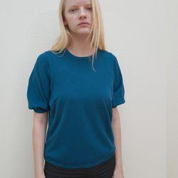 울캐시미어 퍼프 블루 니트_Wool Cashmere Puff Blue NT