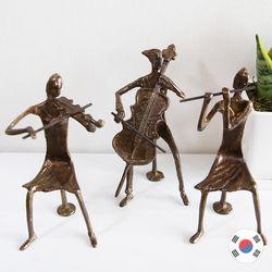 플룻 바이올린 첼로 삼중주 3p 황동 장식품 STD-505