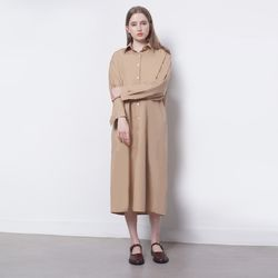 W16 open maxi long shirts ops beige