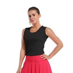 폴리 UPF50+ 스포츠 브이넥 민소매 티셔츠E18
