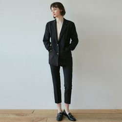 DRAMA SUIT JACKET+SLACKS SET [BLACK]