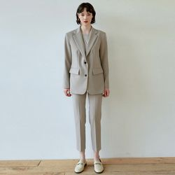 DRAMA SUIT JACKET+SLACKS SET [SAND GRAY]