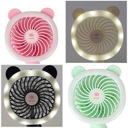 LED 애니 선풍기 휴대용미니선풍기 USB충전식 색상랜덤