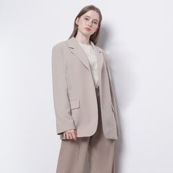 W23 vogue one button jacket beige