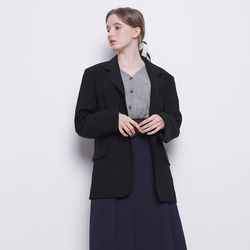 W23 vogue one button jacket black