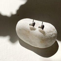 [Silver925] 심플 하트 실버 귀걸이