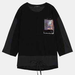 화섬패치 프린팅 티셔츠 TULA20T33