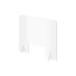 0786  아크릴칸막이 창구형 450mm 오픈형 투명 가림판