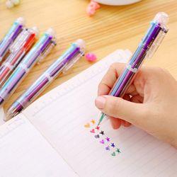 잘 써지는 6색 볼펜
