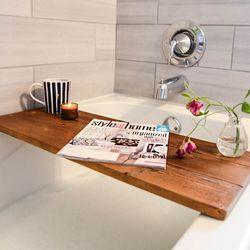 반신욕 원목 방수 욕조 선반 테이블