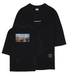 시티뷰 모스크바 7부 티셔츠 블랙
