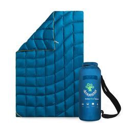 덕 다운 캠핑 백패킹 초경량 사계절 다용도 블랭킷 블루