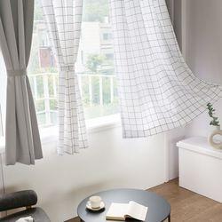 까르데코 노르딕체크+ 노르딕솔리드 창문 암막커튼세트