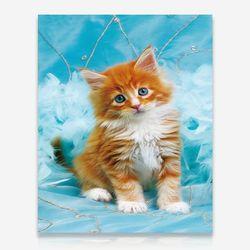 사랑스러운 고양이 DIY 보석십자수 십자수 비즈세트