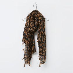 N Leopard Tassel Scarf