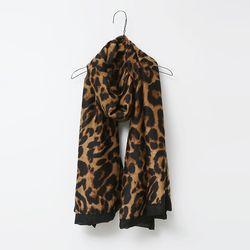 N Black Leopard Scarf