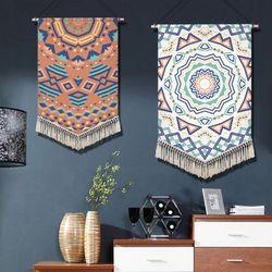 데코 노르딕 패턴 패브릭 포스터