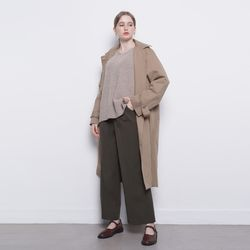 W10 cotton trench coat beige