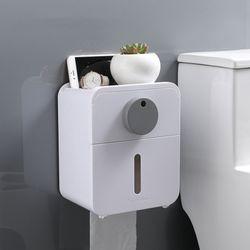 비진 서클 포인트 욕실 벽부착 휴지케이스 겸용 선반
