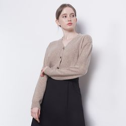 W10  wool cardigan knit beige