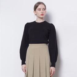 W01 sea puff knit black