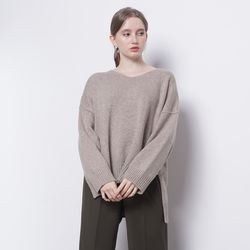 W12 balen over knit beige