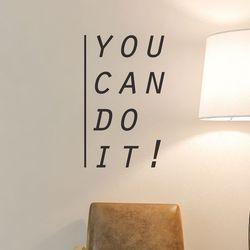 you can do it  할수있다  레터링 인테리어 스티커 large