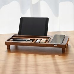 원목선반 나무받침대 태블릿거치대