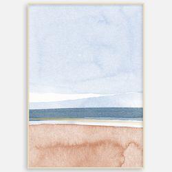 명화 패브릭  거실 인테리어 액자 추상화 여름바다 풍경[A3]