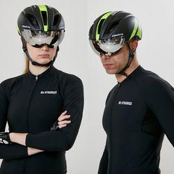 인몰드 고글장착 에어로 자전거헬멧+미러고글 모음전