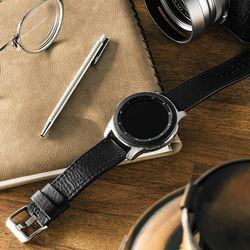 갤럭시워치3 액티브2 링케 레더원 클래식 가죽 시계줄 스트랩