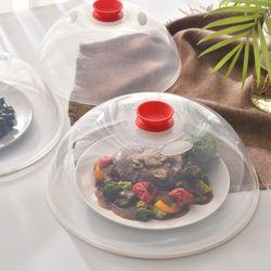 다용도 전자레인지용 음식덮개 3P 세트(소중대) 레드