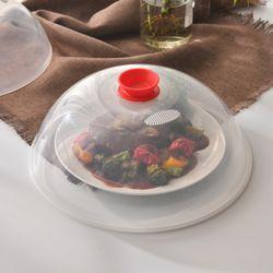 다용도 전자레인지용 음식덮개(중) 레드