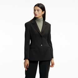 HOURGLASS SLIM JACKET BROWN