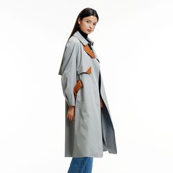 MULTI-COLOR TRENCH COAT GRAY