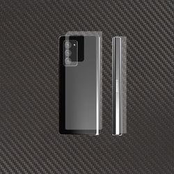 갤럭시 Z 폴드2 5G 무광 카본 스킨 후면보호필름 2매