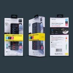 유전원 10포트 고속 USB 고속충전 허브  (U32-22)