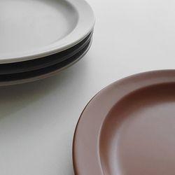 포홈 모던무광 접시10호 플레이트 (4color)