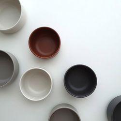 포홈 모던무광 밥공기 그릇 (4color)