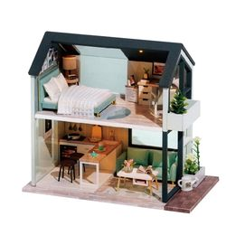 [adico]DIY 미니어처 노르딕 하우스 - 블랙