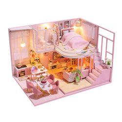 [adico]DIY 미니어처 하우스 - 핑크 드림 빅 하우스