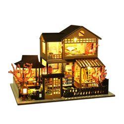 [adico]DIY 미니어처 풀하우스 - 벚꽃 2층 하우스