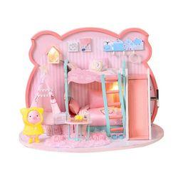 [adico]DIY 미니어처 하우스 - 핑크 피그 하우스