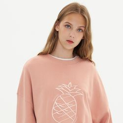 BIG LOGO MONOGRAM SWEATSHIRT PINK