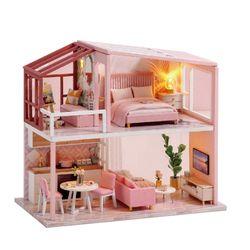 [adico]DIY 미니어처 노르딕 하우스 - 핑크