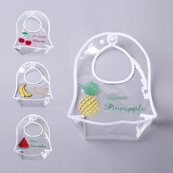 원가이하 투명한 과일 방수턱받이 4종세트 700007